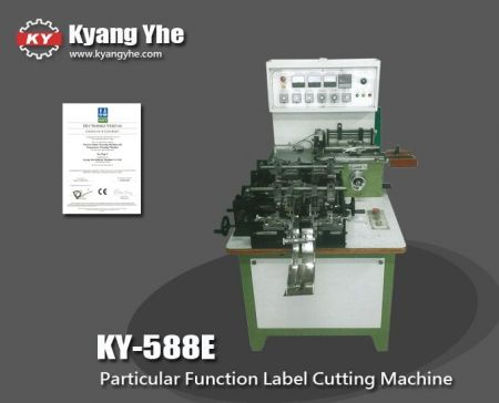 Label Book Cover Fold Cutting Machine - KY-588E Particular Function Automatic Label Cutting and Folding Machine
