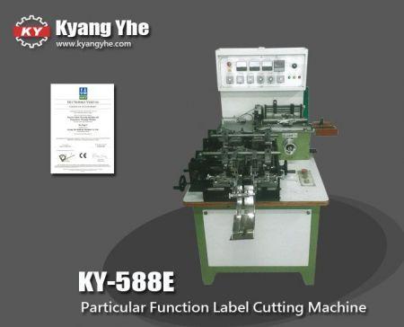 Machine de découpe de pli de couverture de livre d'étiquettes - Machine de découpe et de pliage automatique d'étiquettes à fonction particulière KY-588E