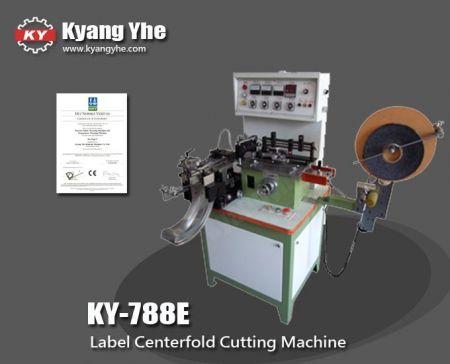 Machine de découpe d'étiquettes à pli central - Machine automatique de pliage central et de découpe d'étiquettes KY-788E