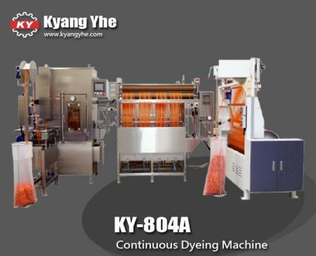 Continuous Ribbons Dyeing Machine - KY-804A Continuous Ribbons Dyeing Machine