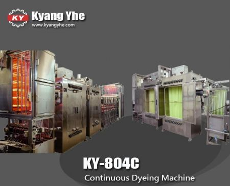 Continuous High Temperature Ribbon Dyeing Machine - KY-804C Continuous High Temperature Ribbon Dyeing Machine