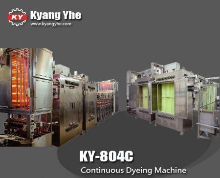 Máquina de tingimento contínuo de fita de alta temperatura - Máquina de tingimento contínuo de fita de alta temperatura KY-804C