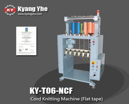 Flat Cord Knitting Machine - KY-T06-NCF Cord Knitting Machine (Flat tape)
