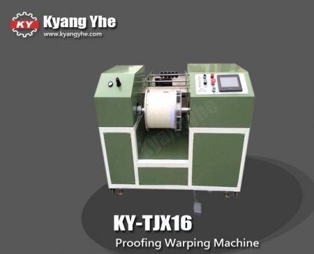 Proofing warping machine