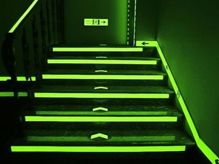Reflective accessories of luminous tape.