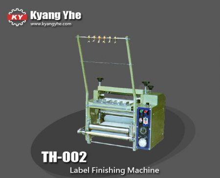 آلة تشطيب العلامات التجارية - TH-002 تسمية آلة التشطيب والنشا
