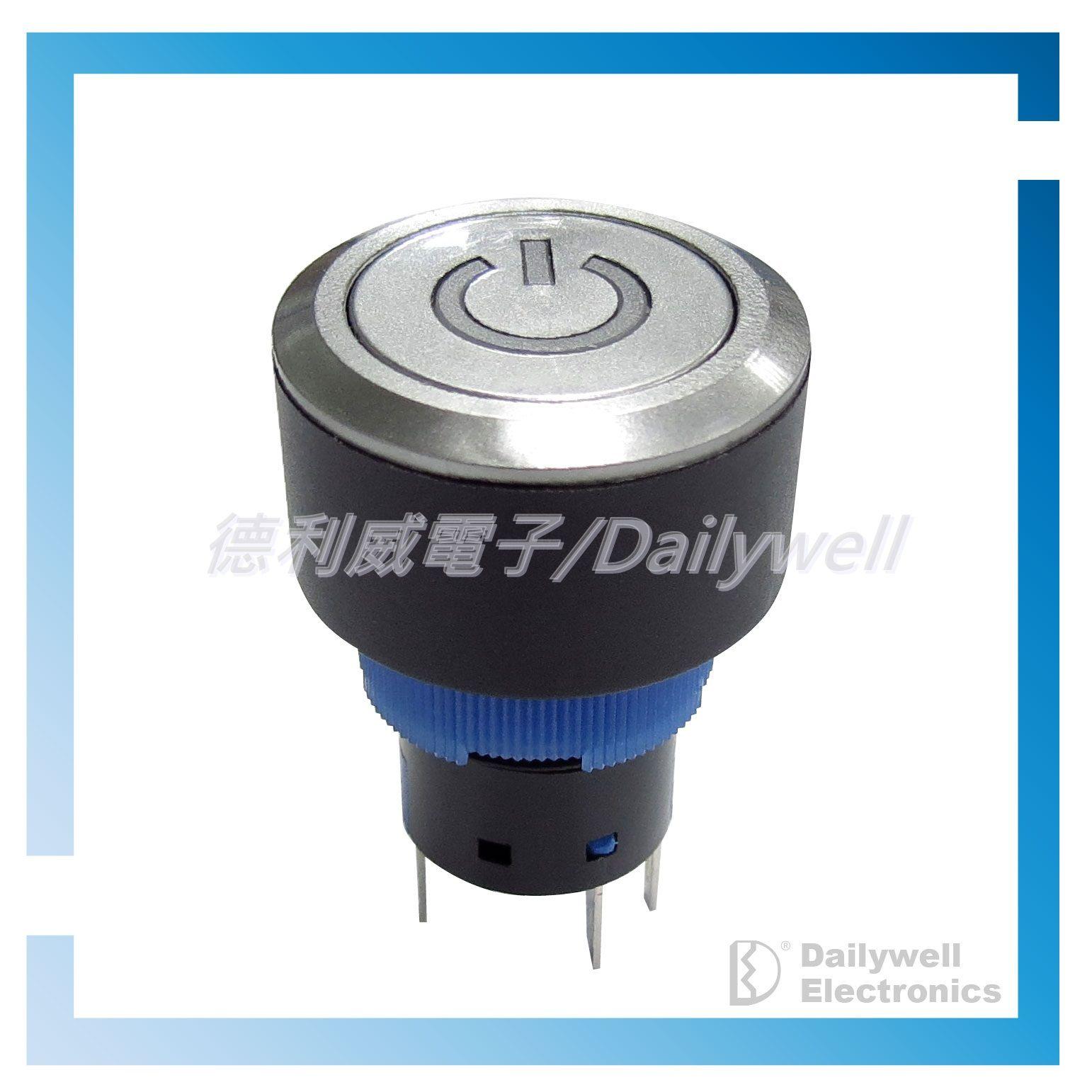 22mm osvětlené tlačítkové spínače