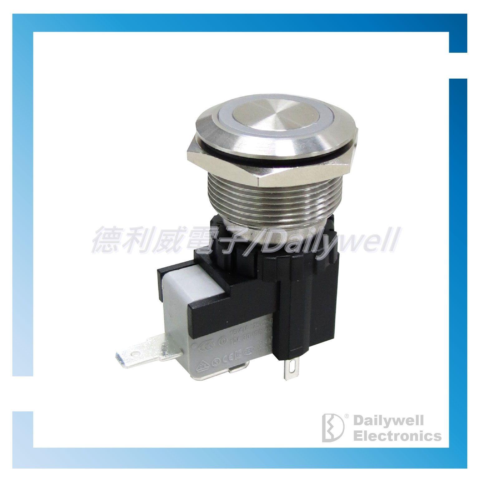 Vysokoproudé antivandalové tlačítkové spínače 22 mm