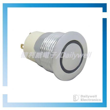Interruptores tipo botão de pressão antivandálico de 16 mm (bloqueio) - Interruptores tipo botão de pressão antivandálico de 16 mm (bloqueio)