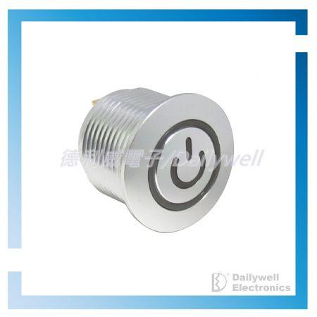 Interruptores tipo botão de pressão antivandálico de 16 mm - Interruptores tipo botão de pressão antivandálico de 16 mm