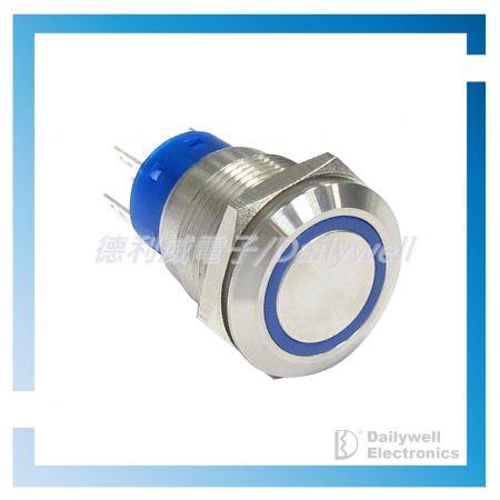 Interruptores tipo botão de pressão antivandálico de 19 mm - Interruptores tipo botão de pressão antivandálico de 19 mm