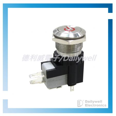 Interruptores tipo botão de pressão antivandálico de alta corrente de 19 mm - Interruptores tipo botão de pressão antivandálico de alta corrente de 19 mm