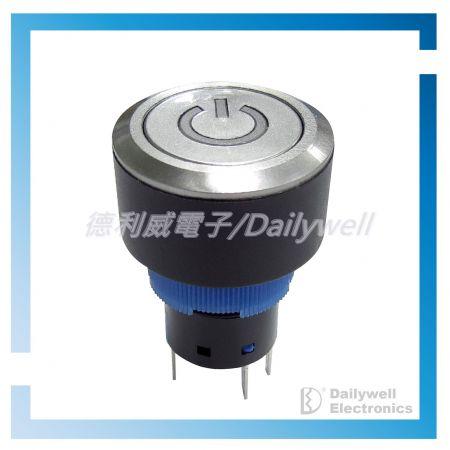 22mm帶燈按鈕開關 - 22mm帶燈按鈕開關 - KPB22 Series