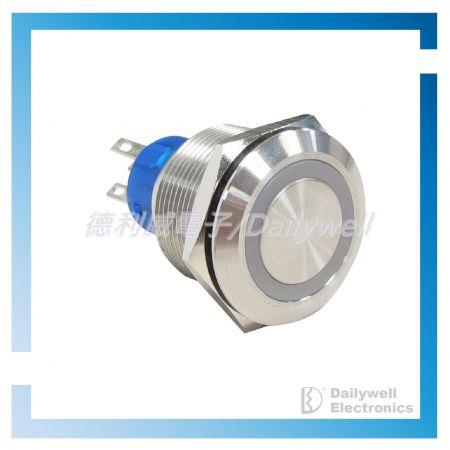 Interruptores tipo botão de pressão antivandálico de 22 mm - Interruptores tipo botão de pressão antivandálico de 22 mm