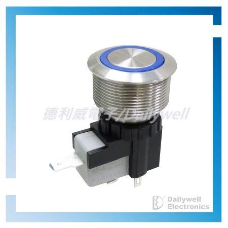Interruptores tipo botão de pressão antivandálico de alta corrente de 25 mm - Interruptores tipo botão de pressão antivandálico de alta corrente de 25 mm