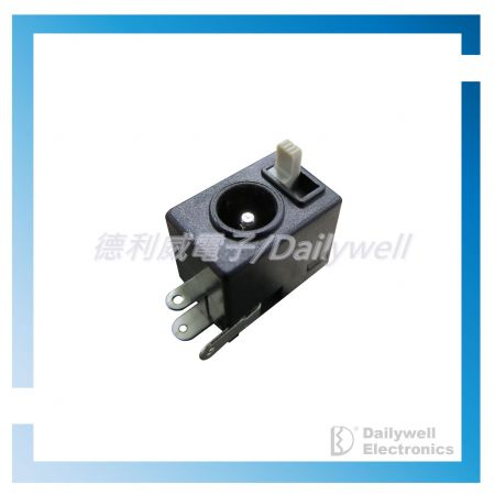 DC Power Jack With Slide Switches - DC Power Jack With Slide Switches