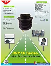 Metal Pushbutton Switches - MPF16 Series
