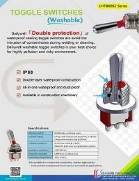 Toggle Switches (Washable) - 1MT88B52 Series