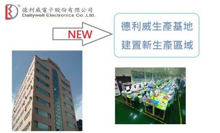 Dailywell oznamuje NOVÝ Tchaj -wanský závod postavený za účelem zvýšení výrobní kapacity