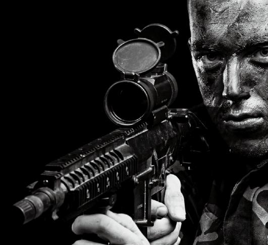 サバイバルゲームと軍および警察の銃