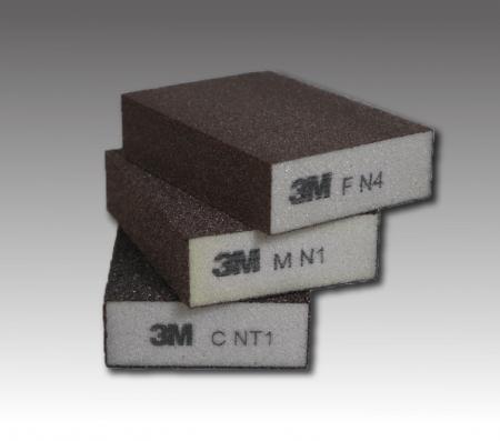 3M研磨スポンジサンドブロック - 3Mスポンジサンドブロック-ソフトPN631983M スポンジサンドブロック-ミディアムハードPN631993M スポンジサンドブロック-コースハードPN63219