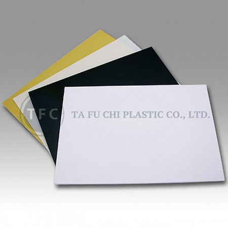 ABS Plastic Plate - ABS can be printed and thermoformed.