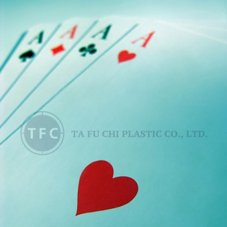 Playing card can be made by polystyrene sheets.