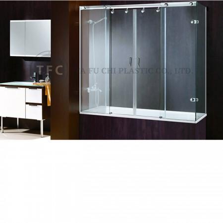 PS kabartmalı levha normalde bir duş kapısı olarak bulunur.