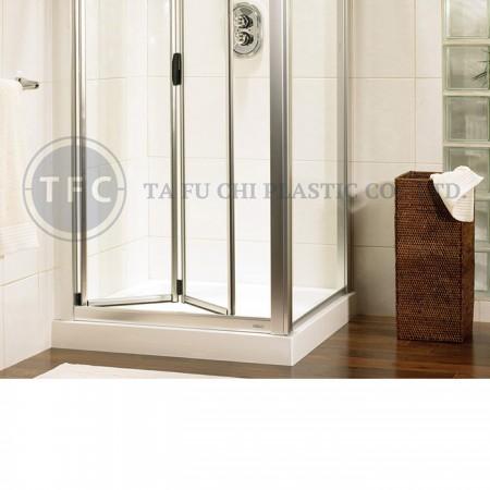 壓花板常用來做淋浴拉門,比玻璃更好加工和整理。