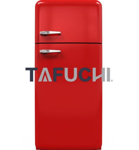 冷蔵庫のシェルは、明るい色の光沢のあるアクリル板を使用しているため、カラフルでキュートな冷蔵庫になり、インテリアに彩りを添えたり、インテリア全体の質感を高めたりすることができます。