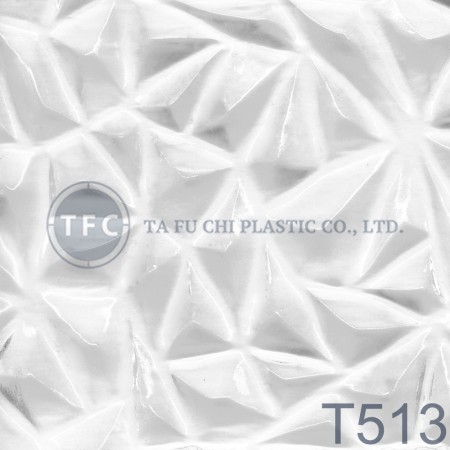 GPPS Patterned Sheet -T513 - The feature of PS embossed sheets is diversification of patterns.
