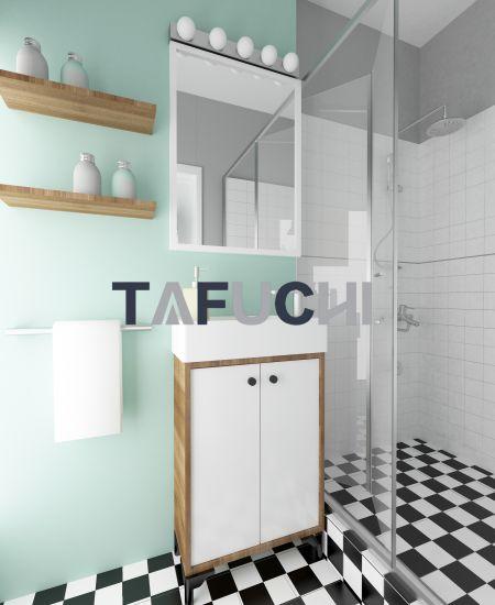 高光壓克力板適合作為浴櫃。