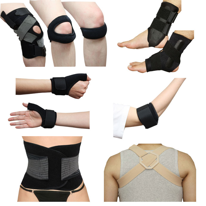 Custom Made Various Support Braces