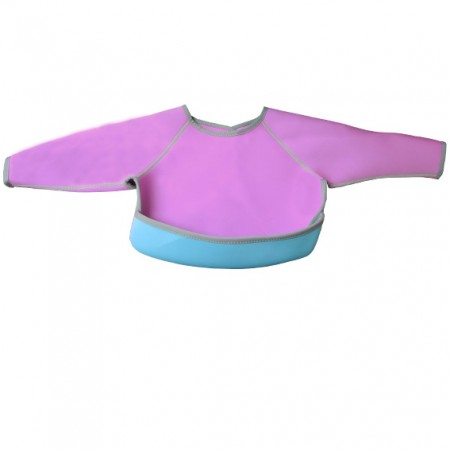 Neoprene Baby Bib Closet with Sleeve and a Front Pocket - Image of Neoprene Baby Bib Closet with Sleeve and a Front Pocket