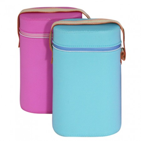 Baby Insulated Double Bottle Cooler/ Warmer Bag - Image of Baby Bottle Bag