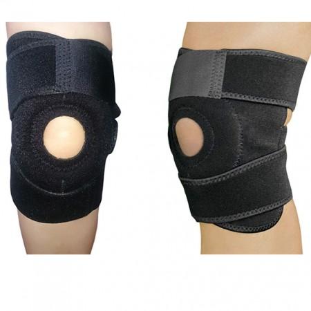 Neoprene Knee Brace with Velcro Plush Fabric - Knee Brace with Velcro Plush Fabric