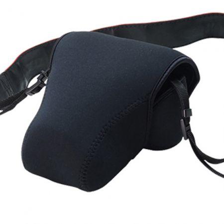 غطاء جراب نيوبرين DSLR (حقيبة كاميرا) مع إغلاق خطاف وحلقة - جراب من النيوبرين DSLR مع إغلاق خطاف وحلقة