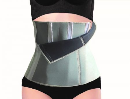 Slimming Body Shaper Corset with 4 zippers design