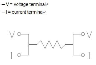 Schematic  Diagram - Four Terminal High Precision Current Sense Resistor (4T Series)