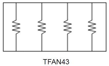 Equivalent Circuit Diagram - Thin Film Array Chip Resistor (TFAN Series)
