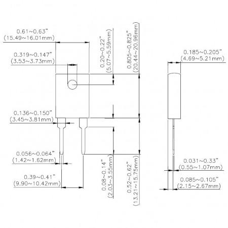 TO-247 Power Resistors-TR100 Series Dimensions