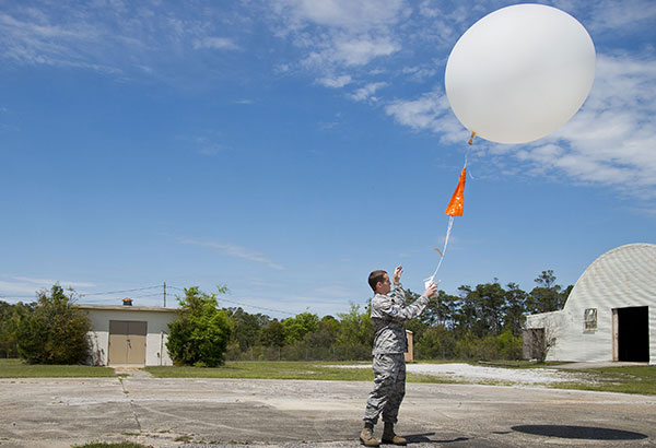 Particular application like the weather balloon, as known as Radiosonde.