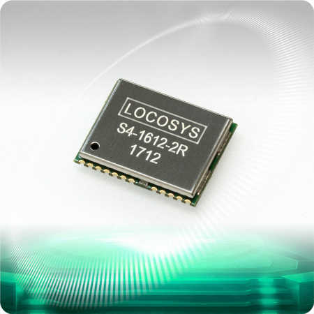 LOCOSYS S4-1612-2E GPS module features high sensitivity, low power and ultra small form factor.