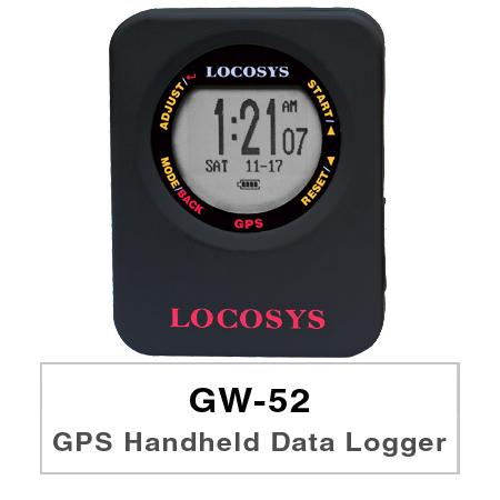 GW-52は、GPS-Dopplerを使用して速度を測定するように最適化されたGPS機器です。