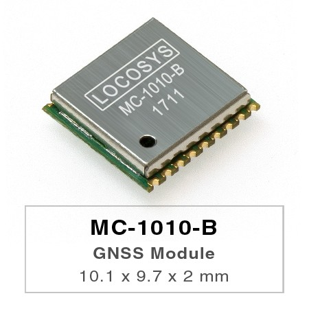 GNSS Module - LOCOSYS MC-1010-B is a complete standalone GNSS module.