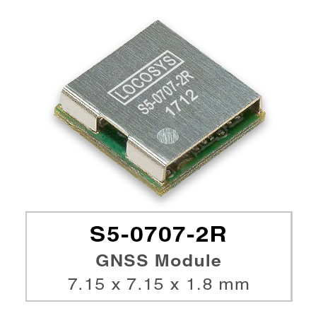 GNSS Module - LOCOSYS S5-0707-2R GNSS module features high sensitivity, low power and ultra small form factor.