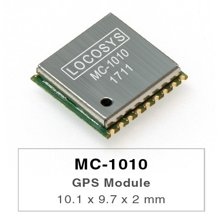 GPS Module - LOCOSYS GPS MC-1010 module features high sensitivity, low power and ultra small form factor.