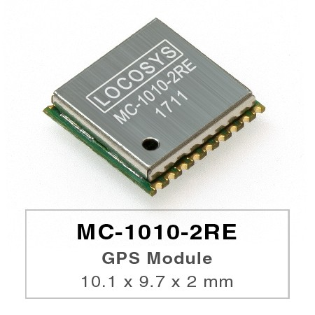 GPS Module - LOCOSYS GPS MC-1010-2RE module features high sensitivity, low power and ultra small form factor.