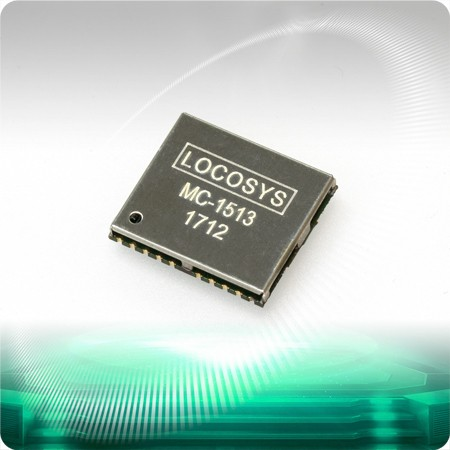 MC-1513 GPS Module - LOCOSYS MC-1513 GPS module features high sensitivity, low power and ultra small form factor.