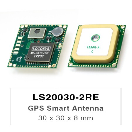 GPS Smart Antenna Module - LS20030~2-2RE series products are complete GPS smart antenna receivers, including an embedded antenna and GPS receiver circuits, designed for a broad spectrum of OEM system applications.